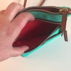 Dooney & Bourke Bags - Dooney & Bourke Crossbody Triple Zip Bag Mint